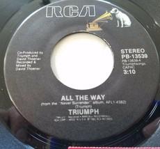 "Triumph: All the Way / Battle Cry 45 Hard Rock Vinyl Record 7"" Single VG+ - £5.31 GBP"
