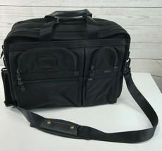 Tumi Alpha 26160DH Black Expandable Carry On Laptop Briefcase Ballistic ... - $98.99