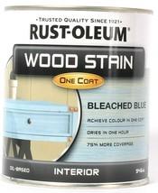 1 Can Rust-Oleum 32 Oz Wood Stain One Coat 310399 Blue Interior Liquid  - $21.99
