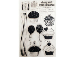 Happy Birthday, Cupcakes, Candles and More Clear Stamp Set