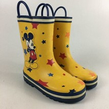 Disney Store Mickey Mouse Childs Yellow Rain Boots Size 11 - $23.36