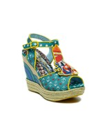 Irregular Choice Women's Round The Twist Sailor-Themed Wedge Platform Sa... - $139.98