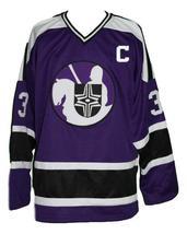 Any Name Number Cleveland Crusaders Custom Retro Hockey Jersey Shmyr Purple image 1