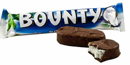 4 BOUNTY COCONUT Chocolate Bars Full Size 57g Each- Canada FRESH & DELIC... - $12.62