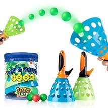 YoYa Toys Pop & Catch Launcher Basket with 3 Balls | for Girls, Boys, Adults, In