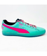 Puma Clyde South Beach Miami Palm Tree Teal Green Pink Mens Sneakers 368... - $79.95