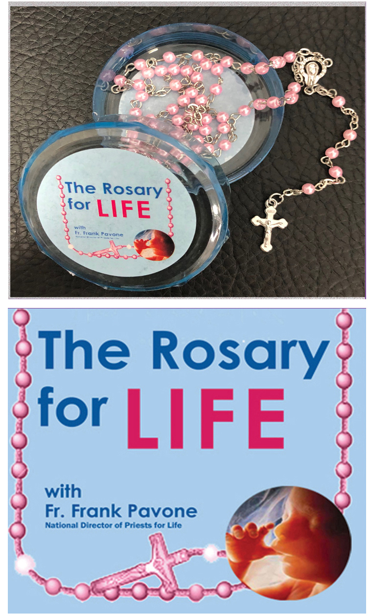 The rosary for life with fr. frank pavone plus the rosary for life rosary pink beads