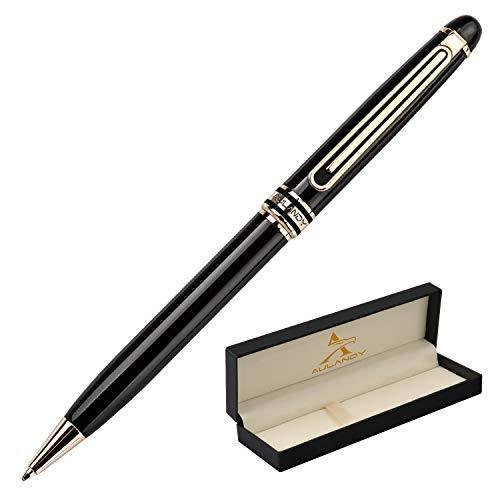 Aulandy Luxury Black Gift Ballpoint Pen for Women, Men,Business Executive Pens w image 2