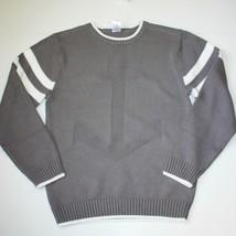 Gymboree Stripes & Anchor Boys Grey Gray Sweater size L 10 11 12 NWT - $24.99