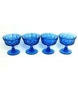 "Noritake PERSPECTIVE Blue Champagne Sherbet 4"" Glasses Set Of 4 - $39.59"