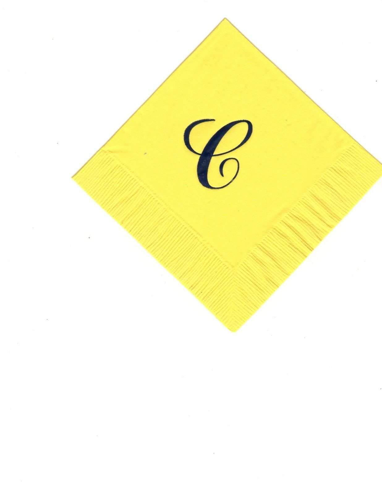 250 large Sheldon Monogram printed napkins your choice of letter and colors image 2