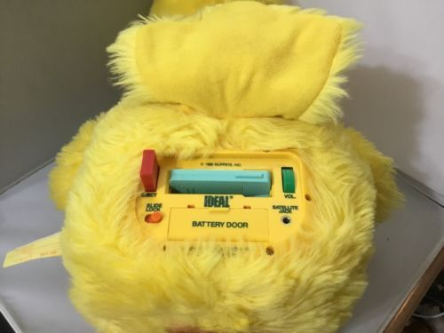 Vintage Big Bird Sesame Street Talking Doll 1986 Ideal Plush With Cassette