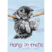 "Dimensions/Jiffy Mini Counted Cross Stitch 5""X7""-Hang On Kitty (14 Count) - $13.62"