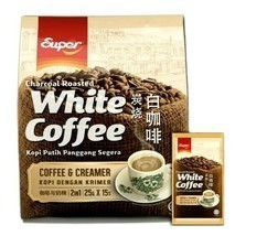 Super 2-In-1 Coffee&Creamer Charcoal Roasted White Coffee 15 Sachets x 2... - $69.29