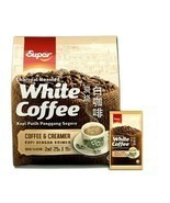 Super 2-In-1 Coffee&Creamer Charcoal Roasted White Coffee 15 Sachets x 2... - $59.39