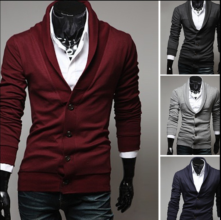 men's long sleeve jacket sweater