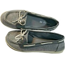 American Eagle AE Womens size 10 Gray comfort Shoes Slip on Casual Deck Flats - $12.86