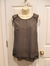 NWT $36 WORTHINGTON  black stitch print sleeveless top size medium - $12.61