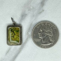 Chico's Silver Tone Abstract Greenery Upcycled Pendant - $12.59
