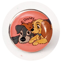 Lady and The Tramp Disney Pinback Button: Tiny Pink Lady and Tramp - $12.90