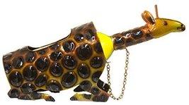 Giraffe Lovers Wine Bottle Holder w/ Giraffe Head Bottle Topper - $29.65