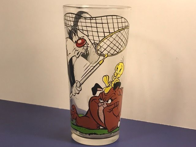 Vintage Warner Bros Sylvester /& Tweety Bird Pepsi 1976 Collector Series Glass