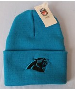 Authentic NFL Carolina Panthers Logo Team Color Cuffed Retro Knit Beanie... - $15.83