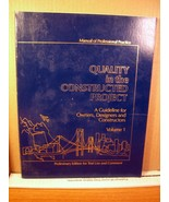 Manual of Professional Practice for Quality in the Constructed Project 1988 - $13.49