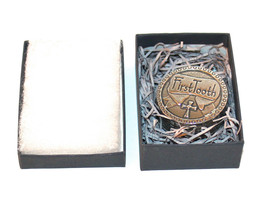 Lovely Pewter First Tooth Box w/ a Cross by Crosby & Taylor-Memorable Gi... - $18.61