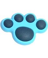 Light Blue Paw Shoe Snap Charm Jibbitz Croc Style - $1.86
