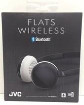 (New) JVC Flats Wireless Bluetooth Headphones HA-S20BT-B (Black) - $27.22