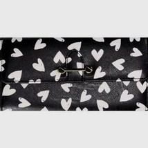No Boundaries Ladies Clutch Wallet Black & White Hearts With Gold Accent... - €12,17 EUR