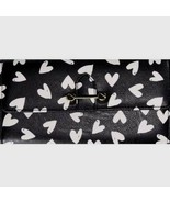 No Boundaries Ladies Clutch Wallet Black & White Hearts With Gold Accent... - £10.21 GBP