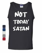 Not Today Satan Tank Top Religious Funny Jesus Religion Faith - $7.97+