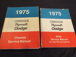 Lot of 1975 Chrysler Dodge Plymouth Chassis Body Service Manuals Wiring ... - $46.64