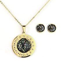 UNITED ELEGANCE Pendant Necklace With Swarovski Style Crystals & Earring Set - $19.99