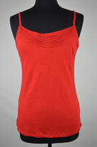 TOMMY HILFIGER NWT WOMENS RED SPAGHETTI STRAP PLEATED TANK TOP SIZE S [4... - $9.25