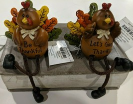 Turkey Shelf Sitter W Dangling Legs Choice of Either One Or Other Or Bot... - $8.00+