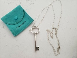 """TIFFANY & CO. Sterling SIlver 30"""" Chain with Key Pendant in Original Pouch - $199.99"""