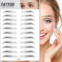 TMYIOYC Eyebrow Tattoo Stickers, 8 Styles Eyebrow Shapes Imitation Waterproof Na image 5