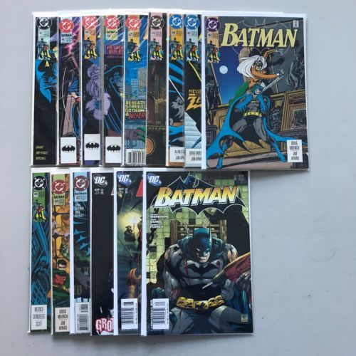 Lot of 15 Batman (1940) from #465-674 VF Very Fine