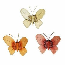 Eangee Home Designs Metal Handcrafted Butterfly Clips Set of 3 Decor Scu... - $72.99