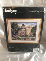 "Janlynn Needlepoint Kit,Victorian House W/GARDENS,MPN 06005,Sealed, Size18x14"" - $49.49"