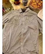INC International Concepts Mens Long Sleeve Striped Blue/White Shirt Siz... - $10.92