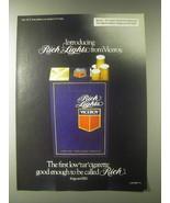 1979 Viceroy Rich Lights Cigarettes Advertisement - $14.99