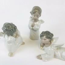LLADRO  3 pc Angels Children Figurines Thinking, Reclining, Praying, - $128.70