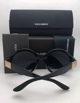 New DOLCE & GABBANA Sunglasses DG 4337 501/87 60-18 Black & Gold Frame w/ Grey