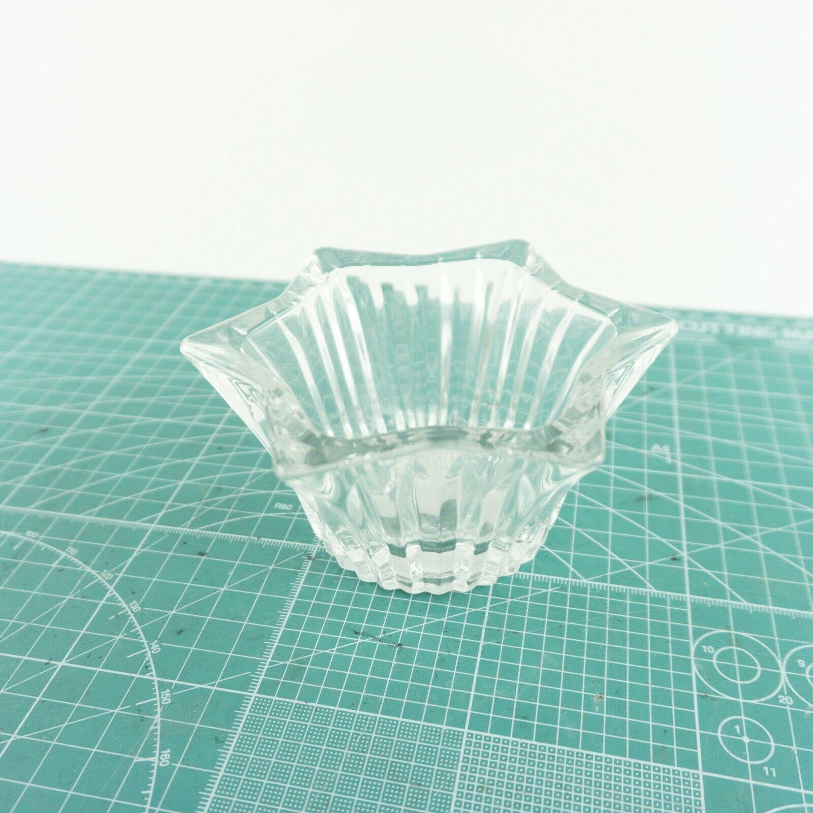 "VTG Mikasa Japan Votive 5"" Six Sided Tealight Candle Holder Key Glass Decorative image 2"