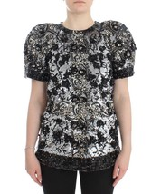 Dolce & Gabbana Black Clear Crystal Runway Blouse Top - $5,423.79