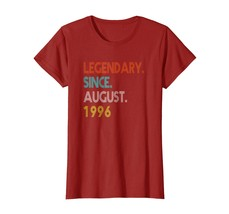Brother Shirts - 22th Birthday Gifts Retro Legendary Since August 1996 Shirt Wow - $19.95+